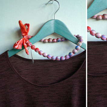 Bow fastening necklace, ombre silk fabric