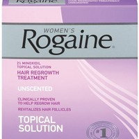 Rogaine for Women Hair Regrowth Treatment, 3 Count Pack, 2 Ounce Bottles   AihaZone Store
