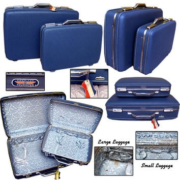 60s American Tourister Luggage / Vintage Suitcases / Pin-up Luggage / Mod Luggage