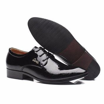 Mesh Dress Pointed Toe Lace Up Metal Flat Formal Business Office Shoes