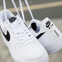 NIKE AIR FORCE 1'07 AF1 Pure white Hoodie Little Star Air Force one shoe