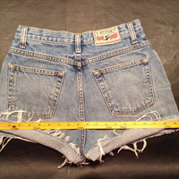 Vintage high waisted Levi's inspired cut-off denim Rockies shorts
