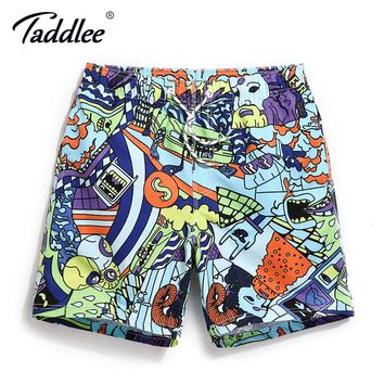 Taddlee Brand Men Beach Board Shorts Surfing Swim Boxer Trunks Shorts Bermuda Men's Sports Shorts Quick Drying Swimming Trunks