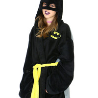 HOODED PLUSH BATMAN ROBE