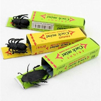 April Fool's Day spoof person 10pcs/lot Funny gadgets Tricky toys surprised cockroaches gum halloween gift for joke