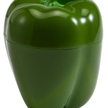 DCCKL72 Pepper Saver Plastic See Through Pepper Container Holder  - Bulb Shaped Pepper Cut Pepper Fresh and Moist Storage -Assorted