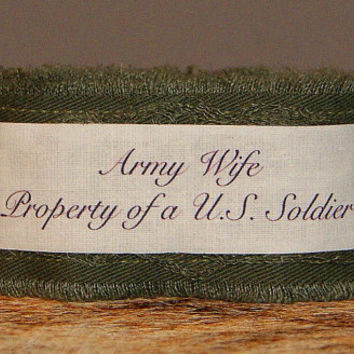 Army Wife Military Jewelry Green Inspirational Bracelet Army Jewelry Military Jewelry Soldier