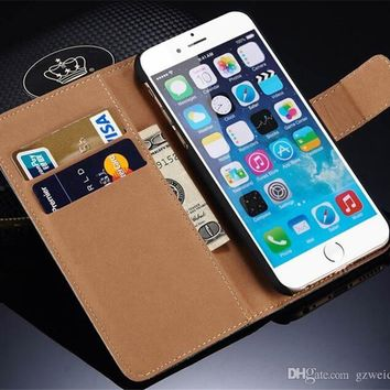 For Samsung Galaxy S8 Plus Wallet Case PU Leather Book Wallet Flip Case Cover for iPhone 6 6s 7 Plus S6 S7 Edge