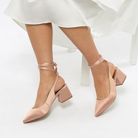 ASOS SWEETHEART Bridal Pointed Heels at asos.com