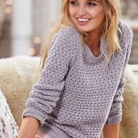 Popcorn-stitch Crewneck Pullover Sweater - Victoria's Secret