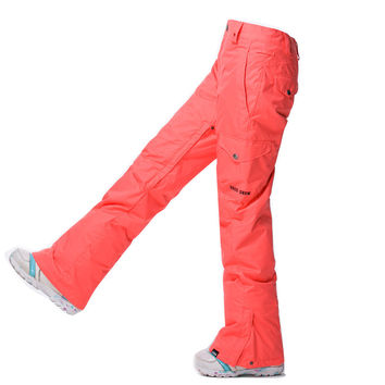 GSOU SNOW Top Quality New Women Winter Waterproof Windproof Ski and Snowboard Warm Pants Moutain Climbing Hiking Long Pants