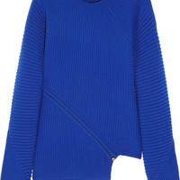 Opening Ceremony - Zip-detailed ribbed wool sweater