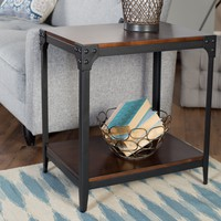 Belham Living Trenton Industrial End Table - Espresso | www.hayneedle.com