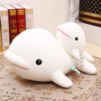Cute Whale Plush Toy Soft Pluche Knuffels Kawaii Stuff Gifts For Kids Birthday White Pillow Whale Stuffed Animal Toy 70C0597