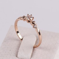 Rings Zirconium 18K Rose Gold Plated High-grade Decorative FJ0003