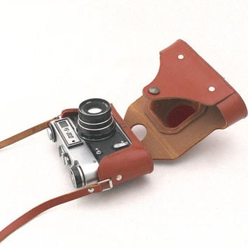 Vintage camera FED 5B  from Russia 80s, Travel camera, Manual camera, Working camera for him, Fathers day gift
