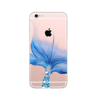 CREYON Day First Mermaid Ultra Thin Soft Tpu Phone Case for iPhone 6 6S
