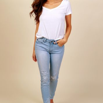 Say Yes To Distressed Skinny Light