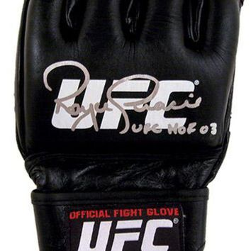 DCCKJNG Royce Gracie Signed Autographed Official UFC Fight Glove (ASI COA)