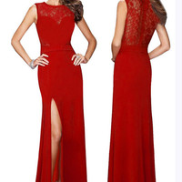Fashion Prom Dress Ladies Sexy Sleeveless Backless Maxi Dress Formal Evening Party Date Cocktail Ball Gown Dress Bridesmaid Dress = 5841925505