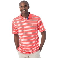Roster Performance Stripe Polo in Sunset by Southern Tide