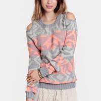 Arctic Rave Cutout Sweater