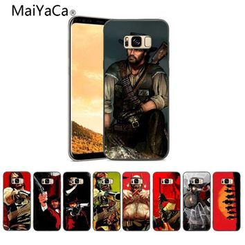 MaiYaCa Red Dead Redemption TPU Soft Silicone black Phone Case Cover For Samsung Galaxy S8 S8 plus And S5 S6 S7 S9