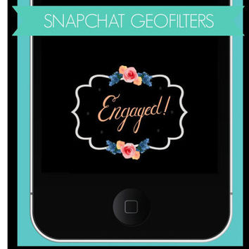 Customized Snapchat Geofilter, Snapchat, Geofilters, Engagement Geofilter, Social Media,  Wedding Filter, Engagement Filter, Snap Chat