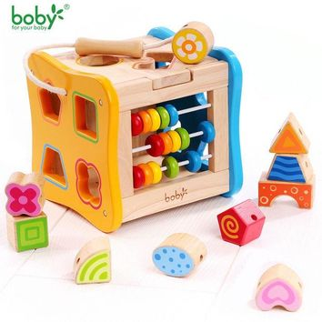 DCCKL3Z Baby toys for children Wooden Classic Wooden Multi Shape Sorter Block for Kids Gift juguetes brinquedos