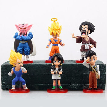 Dragon Ball kai 6pcs Action Figure Budokai Son Goku Gohan Vegeta PVC Model Japanese Anime Figure DragonBall Z Kai Toy