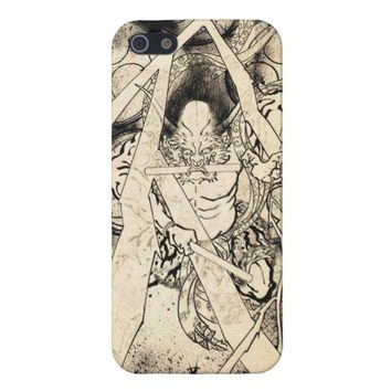 Cool classic vintage japanese demon ink tattoo iPhone 5 cases from Zazzle.com