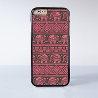Red Elaphant Mandala  Plastic Case Cover for Apple iPhone 4 4s 5 5s 5c 6 6s Plus