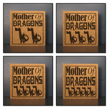 af8f94390678 Mother s Day Gift Idea - Mother Of Dragons - Game Of Thrones Inspired Cork  Hot Pad