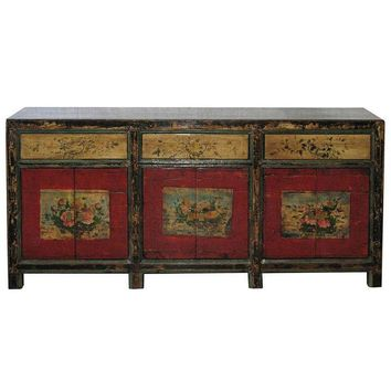 Pre-owned Painted Mongolian Buffet C. 1880s