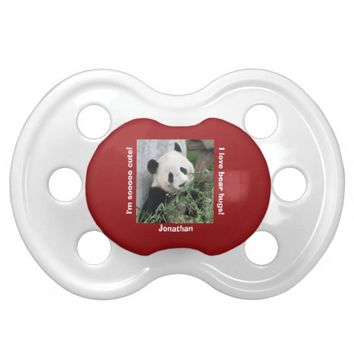 Giant Panda Pacifier Binky, I Love Bear Hugs!