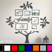 Table Top Family Tree Vinyl Wall Decal