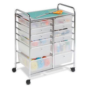 12 Drawer Rolling Cart