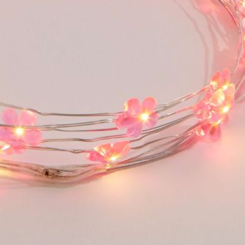 Pink Daisies LED String Lights