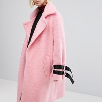 STYLENANDA Overcoat With Strap Detail at asos.com