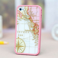 Case for iPhone 4/4S and iPhone 5 Treasure Map