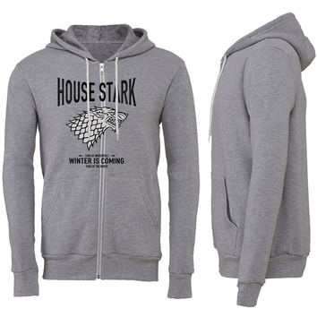 Game of Thrones House Stark Zipper Hoodie