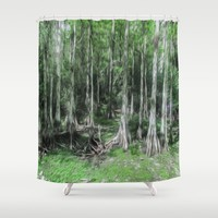 A Secret Place Shower Curtain by Gwendalyn Abrams