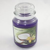 Exotic Coconut Candle, Large Purple Candle, 28 Ounce Container Candle
