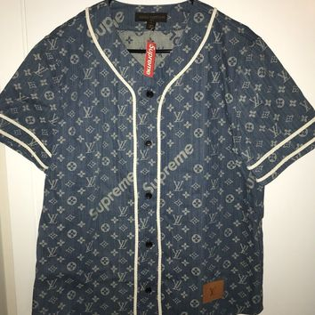 Supreme X Louis Vuitton Baseball Jersey