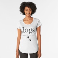 'DOGS ' Women's Premium T-Shirt by lovewithfluff