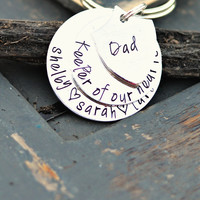 Father's Day Keychain Dad keychain gift for fathers day daddy gift from daughter