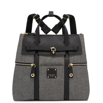 Jetsetter Black Canvas Convertible Backpack | Henri Bendel