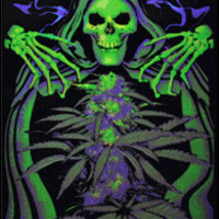Opticz Grim Reefer - Black Light Poster