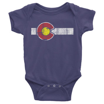 CLASSIC COLORADO FLAG INFANT BABY Onesuit