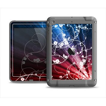 The Blue and Red Light Arrays with Glowing Vines Apple iPad Air LifeProof Nuud Case Skin Set